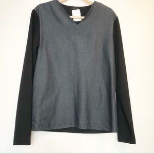 COS two toned long sleeve tunic top size S